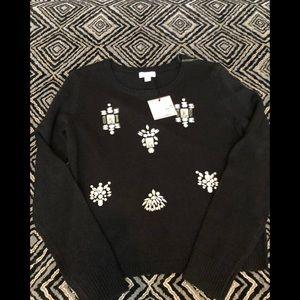 3/$30 Black jeweled winter sweater